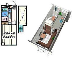 埼玉県草加市氷川町の賃貸アパートの間取り