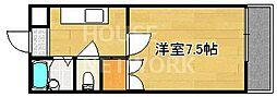 鏡石ハウス[205号室号室]の間取り