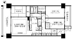 東京サーハウスガーデンポート 4階3LDKの間取り
