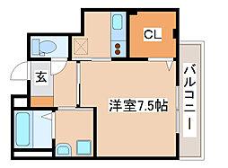 神戸市海岸線 駒ヶ林駅 徒歩4分の賃貸マンション 2階1Kの間取り