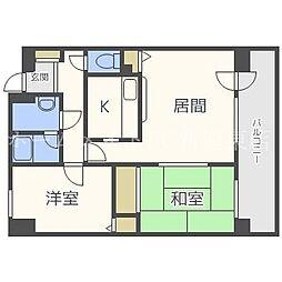 北海道札幌市東区北三十一条東16丁目の賃貸マンションの間取り