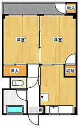 マルヤマビル[6階]の間取り