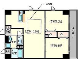 第1関根マンション[8階]の間取り