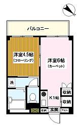 神奈川県川崎市川崎区大島上町の賃貸マンションの間取り