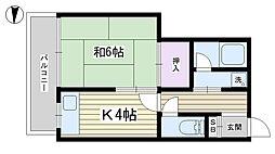 天野ビル4-A[4F号室]の間取り