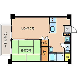 横尾ビル[305号室]の間取り