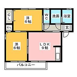 フォレストコート[2階]の間取り