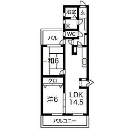 ロワールマンション大濠II[8階]の間取り