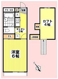 カーサ上尾[203号室]の間取り