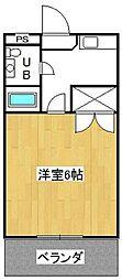 ドミール井ヶ谷[306号室]の間取り