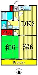 江藤マンション[4階]の間取り