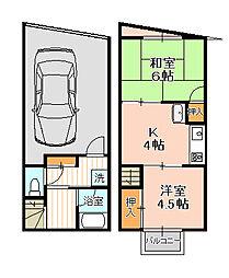 [一戸建] 千葉県松戸市五香南1丁目 の賃貸【/】の間取り