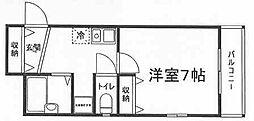 兵庫県姫路市飾磨区今在家北2丁目の賃貸マンションの間取り