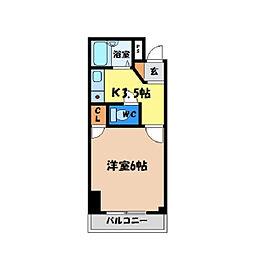 シティガーデン富田[202号室]の間取り