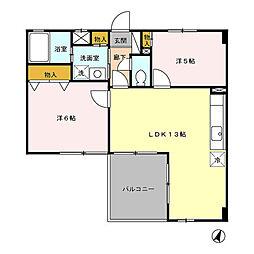 埼玉県さいたま市中央区本町東4丁目の賃貸マンションの間取り