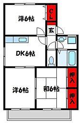 エクレール渋田II[2階]の間取り