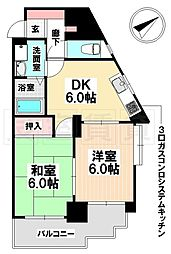 愛知県名古屋市南区松城町1丁目の賃貸マンションの間取り