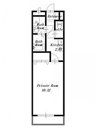 WING HOUSE[3階]の間取り