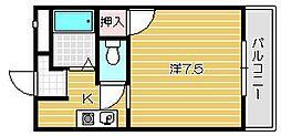 大阪府摂津市千里丘4丁目の賃貸アパートの間取り