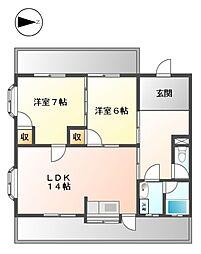 第3平松ビル[2階]の間取り