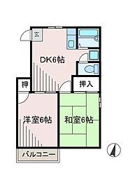 神奈川県相模原市南区相南3の賃貸アパートの間取り