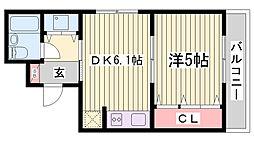 朝日プラザ兵庫大開通[7階]の間取り