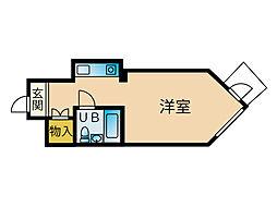 ダイナコート平尾[7階]の間取り