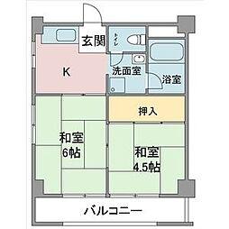 小野マンション[407号室]の間取り