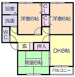 ランドベアー21C[2階]の間取り