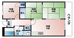 ヤナギマンション[2階]の間取り