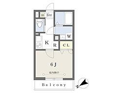 東京メトロ副都心線 池袋駅 徒歩12分の賃貸アパート 3階1Kの間取り