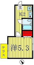 オレンジレジデンス[1階]の間取り