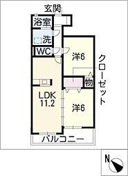 NEW PINE A棟[1階]の間取り
