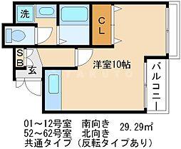 京都友禅文化会館[7階]の間取り