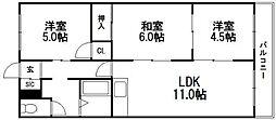 上野マンション[4階]の間取り
