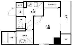 東京都目黒区自由が丘1丁目の賃貸マンションの間取り