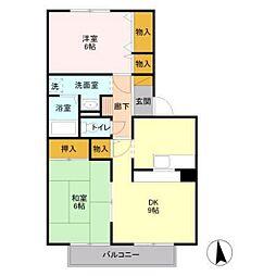 フラワーハウス[102号室]の間取り
