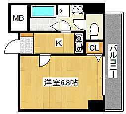 パーラム徳庵[501号室号室]の間取り