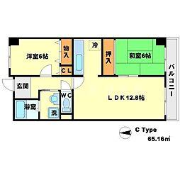リーリオ江坂[5階]の間取り