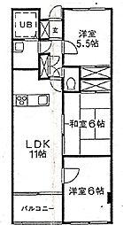 埼玉県さいたま市浦和区前地1丁目の賃貸マンションの間取り