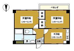 神奈川県横浜市緑区白山1丁目の賃貸マンションの間取り