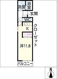 AKSハイツ[2階]の間取り