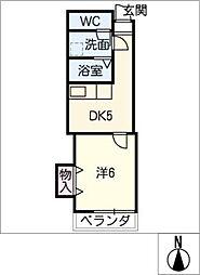 Kスクエアサウス[7階]の間取り