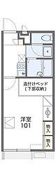 南海高野線 萩原天神駅 3.1kmの賃貸アパート 2階1Kの間取り
