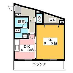ハートフル医大南[5階]の間取り