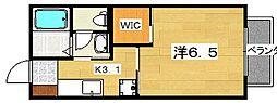リヴェール渚C棟[2階]の間取り