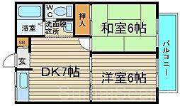 エトワール住吉[1階]の間取り