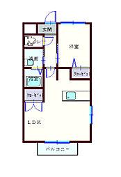 ワンズハウス[3階]の間取り