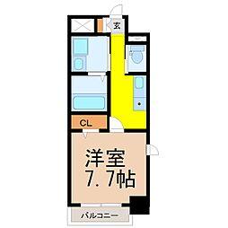 グレイスコート八田駅前[9階]の間取り