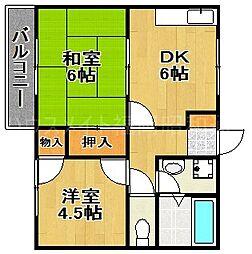 ヒューマンズ平和2番館[2階]の間取り